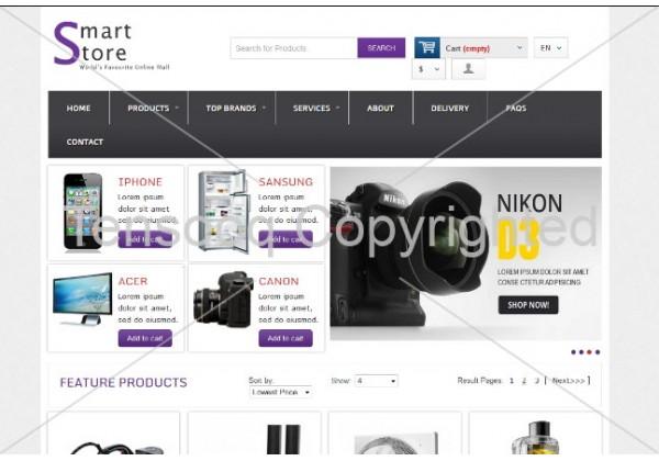 full Smart Store E-commerce Online Shopping Website Template